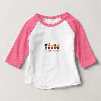 """Baby Girls Raglan T-Shirt """"I Love to Sing"""" Image"""