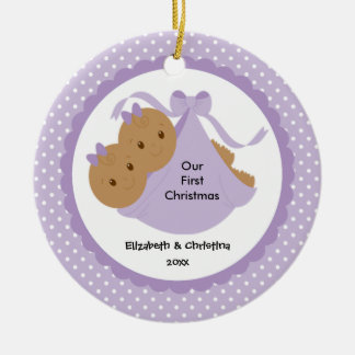 Baby Girls Twins Baby's First Christmas Ornament