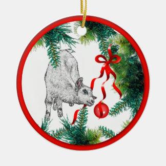 Baby Goat Christmas Ornament