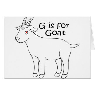 baby goat graphic card