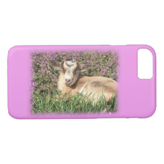 Baby Goat Kid Barnyard Farm Animal Pink iPhone 8/7 Case