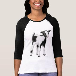 Baby Goat Ladies Raglan Jersey T-Shirt