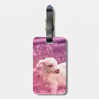 Baby Goat Whitey Luggage Tag