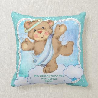 Baby Godson Godchild Gift Communion Baptism Angel Throw Pillow