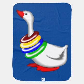 Baby Goose blankie Receiving blue Blanket Receiving Blankets