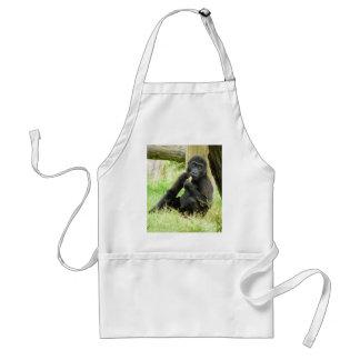 Baby Gorilla Snacking Standard Apron