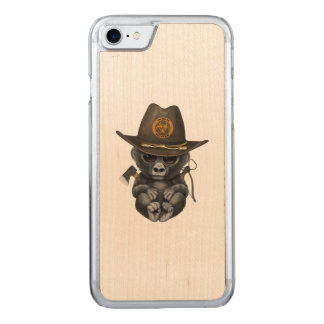 Baby Gorilla Zombie Hunter Carved iPhone 8/7 Case