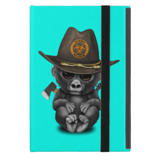 Baby Gorilla Zombie Hunter iPad Mini Cover