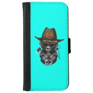 Baby Gorilla Zombie Hunter iPhone 6 Wallet Case