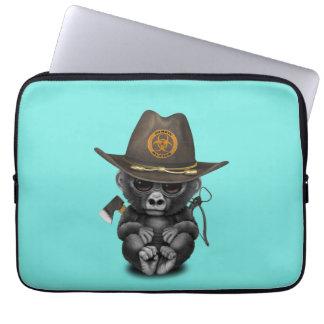 Baby Gorilla Zombie Hunter Laptop Sleeve