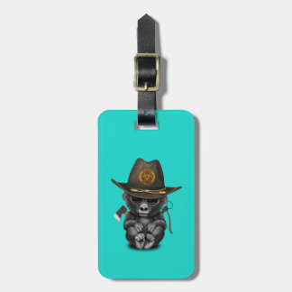 Baby Gorilla Zombie Hunter Luggage Tag
