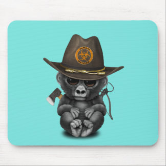 Baby Gorilla Zombie Hunter Mouse Pad