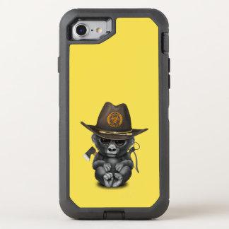 Baby Gorilla Zombie Hunter OtterBox Defender iPhone 8/7 Case