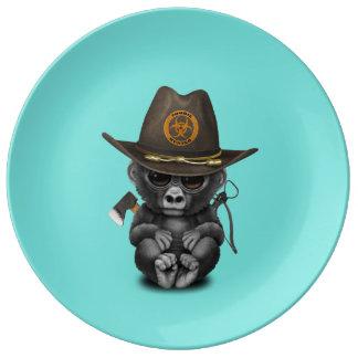 Baby Gorilla Zombie Hunter Plate