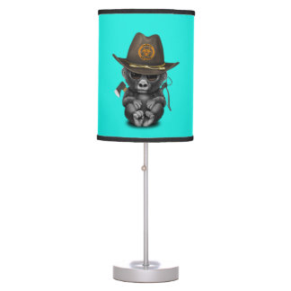 Baby Gorilla Zombie Hunter Table Lamp