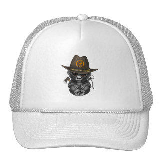 Baby Gorilla Zombie Hunter Trucker Hat
