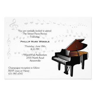 Baby Grand Piano Invitation