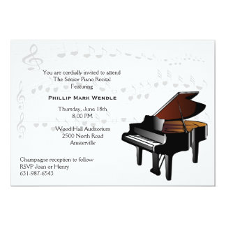 Baby Grand Piano Invitation