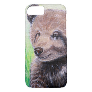 Baby Grizzly Bear Painting iPhone 8/7 Case