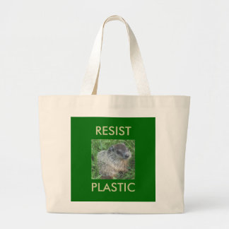 Baby Groundhog RESIST PLASTIC Tote Bag