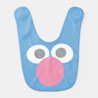 Baby Grover Face Shape Pattern Bib