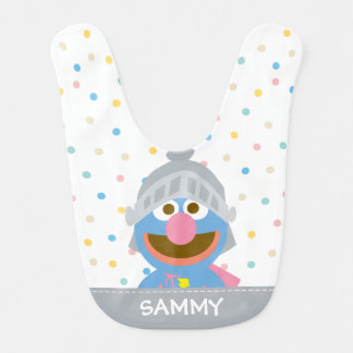 Baby Grover in Armor | Add Your Name Bib