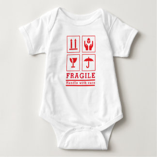 "Baby ""Handle with care"" Jersey Bodysuit"