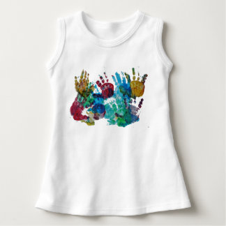 Baby handprints dress