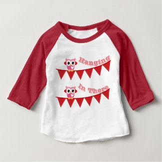 Baby Hanging In There 3/4 Sleeve Raglan T-Shirt