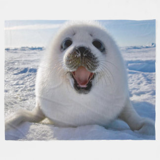 BABY HARP SEAL FLEECE BLANKET