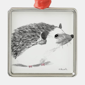 Baby hedgehog animal metal ornament