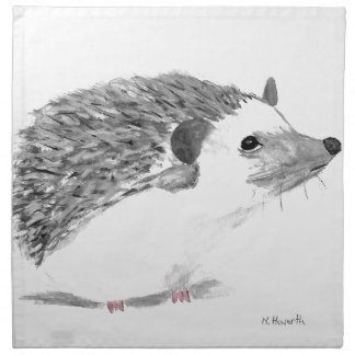 Baby hedgehog animal napkin