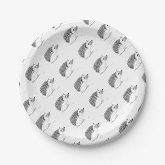 Baby hedgehog animal paper plate