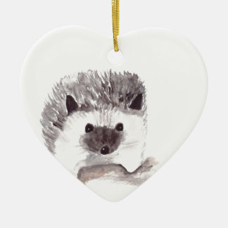 baby hedgehog ceramic ornament