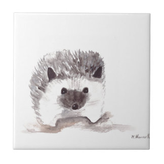 baby hedgehog ceramic tile