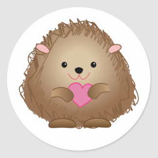 Baby Hedgehog w/Heart stickers