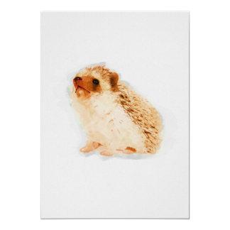 Baby Hedgehog Watercolor Nursery 5x7 Print Card