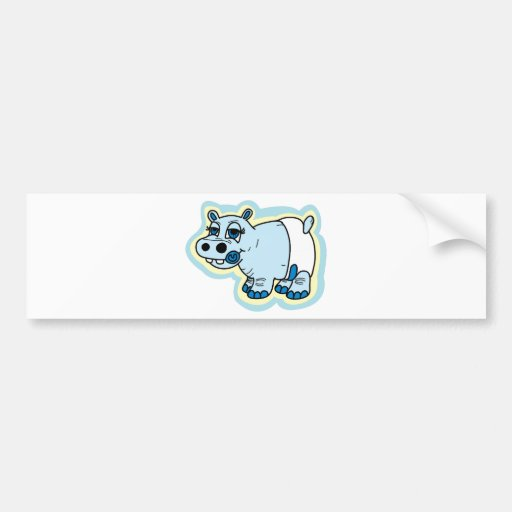 Baby Hippo Bumper Sticker