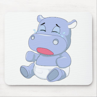Baby Hippo Crying Mouse Pad