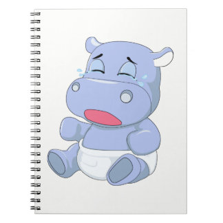 Baby Hippo Crying Notebooks