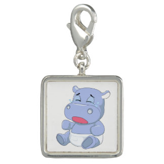Baby Hippo Crying Photo Charms