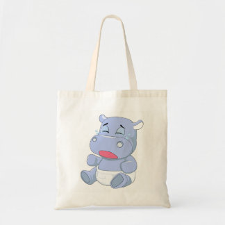 Baby Hippo Crying Tote Bag