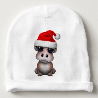 Baby Hippo Wearing a Santa Hat Baby Beanie