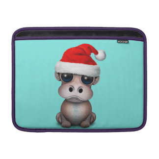 Baby Hippo Wearing a Santa Hat Sleeve For MacBook Air