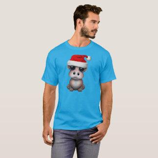 Baby Hippo Wearing a Santa Hat T-Shirt