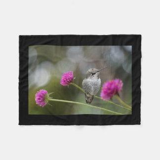 baby hummingbird fleece blanket