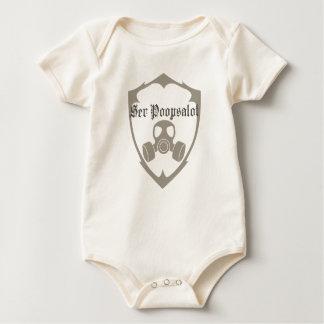 Baby Humor Ser Poopsalot Biohazard Baby Bodysuit