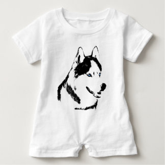 Baby Husky Romper Siberian Husky Romper Customize