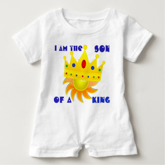 Baby I Am The Son Of A King Romper