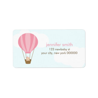 Baby in a Balloon Label